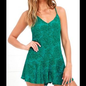 O'Neill Turquoise Print Romper